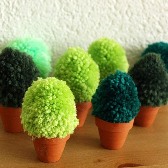 We Want A Shrubbery Pom Pom Plush Plant by glamasaurus on Etsy, $17.00