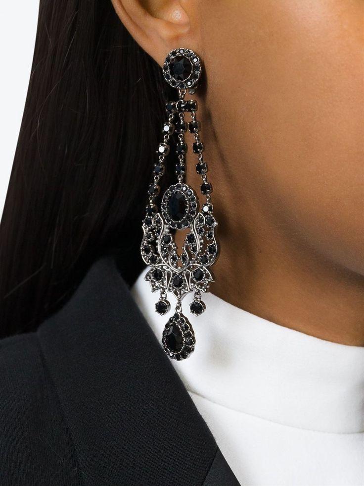 Givenchy Викторианский люстра клипсы