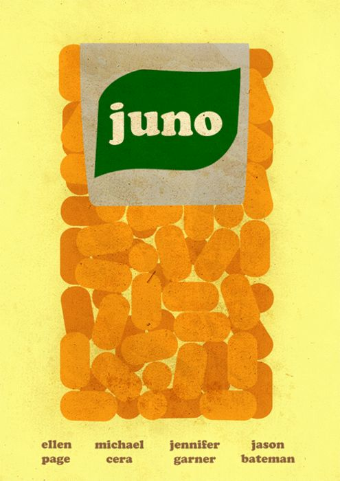 juno: Minimalist Posters, Minimalist Movie Posters, Posters Design, Ticking, Juno, Film Posters, Tic Tac, Poster Designs, Minimal Movie Posters