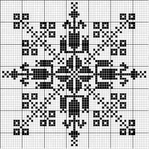 Square 36 | Free chart for cross-stitch, filet crochet | Chart for pattern - Gráfico