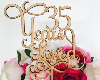 35 Years Loved Cake Topper Anniversary Cake Topper Cake Decoration Cake Decorating Wedding Anniversary Cake 35th Wedding Anniversary