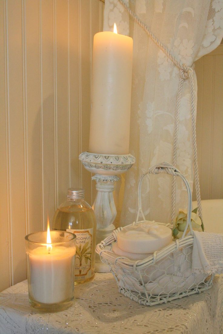 Best Romance In The Bathroom Images On Pinterest - Candles for bathroom