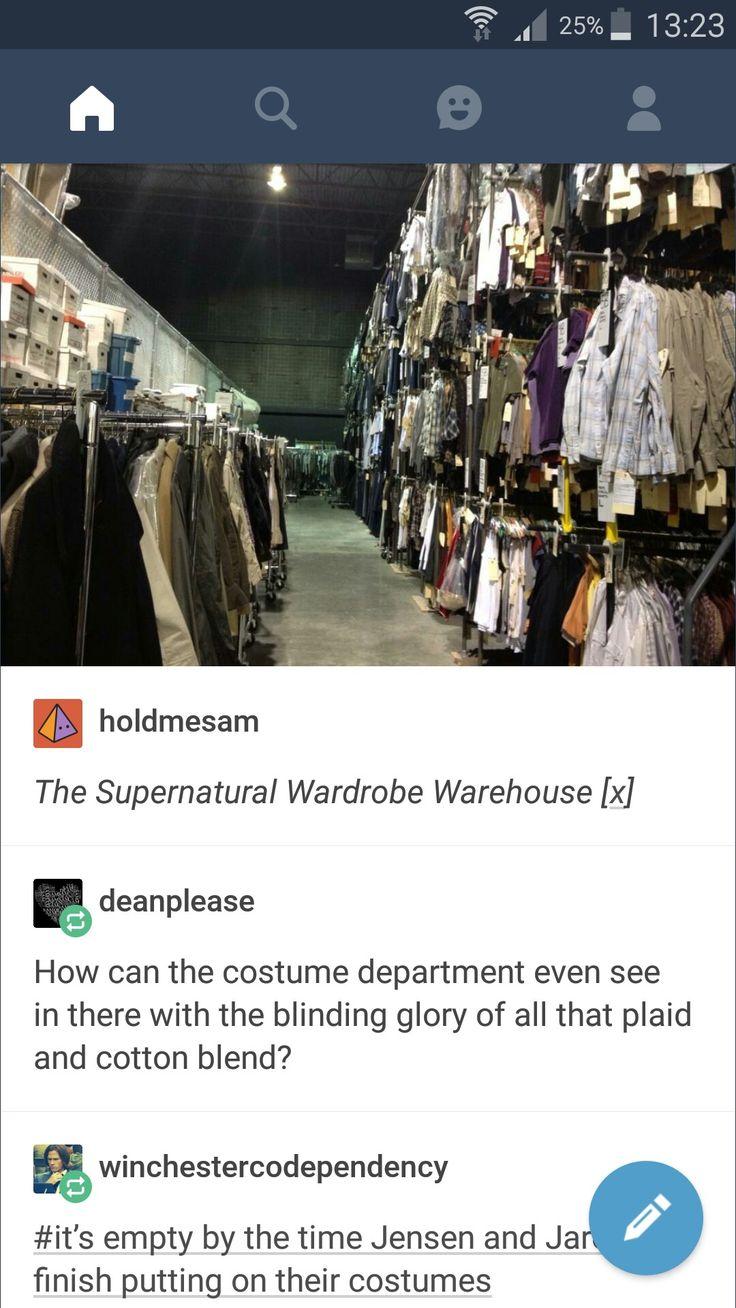 That last comment! :D | The Supernatural Wardrobe Warehouse. #spn                                                                                                                                                                                 More