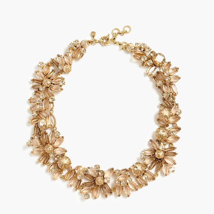 Shop the Two-Tone Floral Necklace at JCrew.com and see our entire selection of Women's Necklaces.