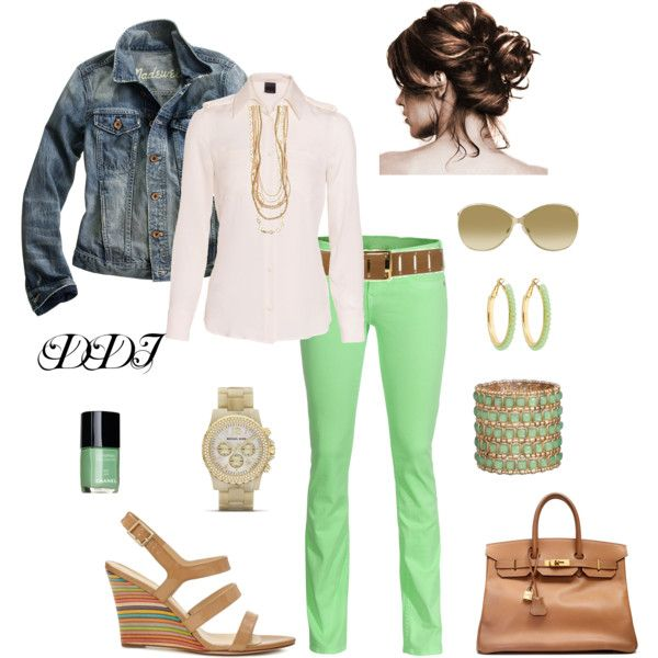 """""""Mint Green Jeans"""" love the look of this outfitA Mini-Saia Jeans, Bullheadblack Pacsun, Outfit Ideas, Style Inspiration, Chains, Mint Green Jeans, Denim Jackets, Mint Jeans, Jeans Outfit"""