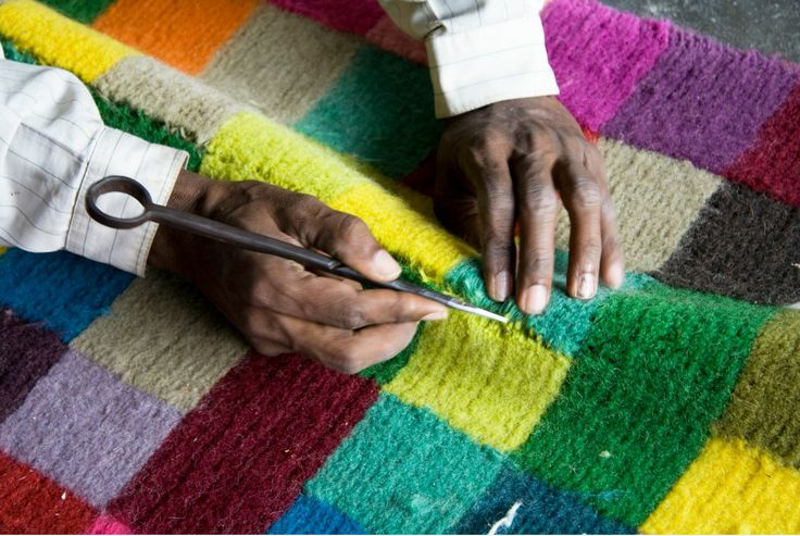 Digit rug - Alfombra Digit Making of process  www.nanimarquina.com