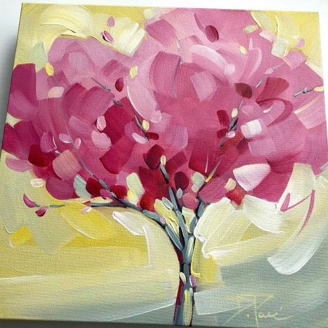 Danielle Pare On Instagram Aren T The Apple Blossoms Just Spectacular This Year Candy Floss 12x12 Available Santinig Apple Blossom Blossom Candy Floss