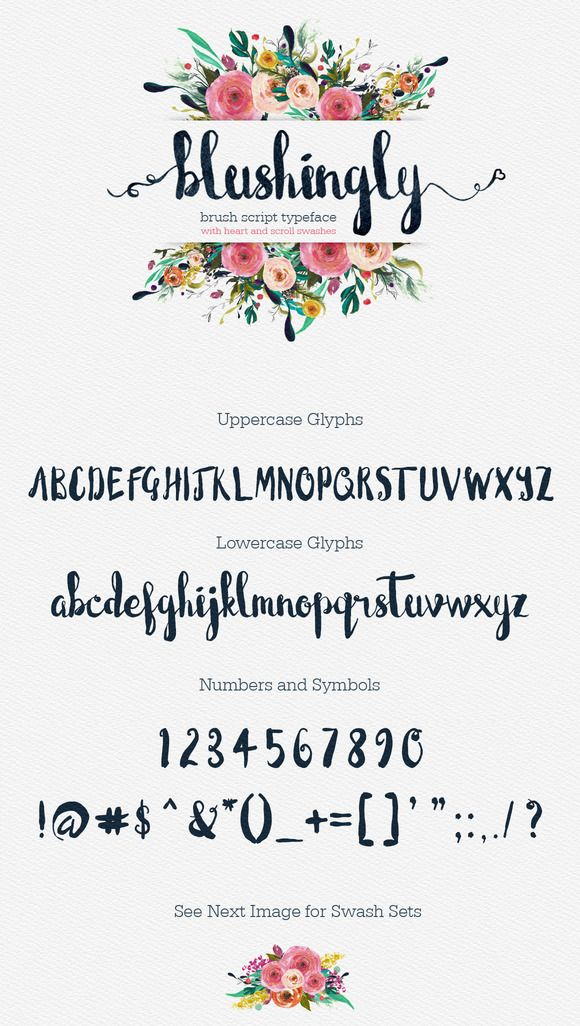 Blushingly Typeface - Wedding Font by Creativeqube Design on Creative Market