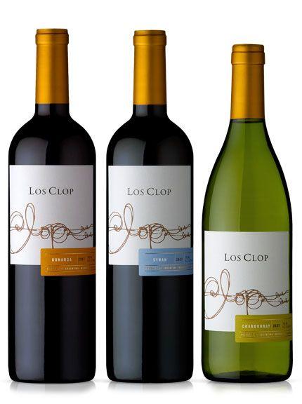 Los clop wines label design