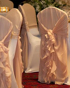 Chair cover decor, hire, chair covers, wedding, wedding centrepieces, wedding table decoration,venue styling, Warwickshire, West Midlands, Staffordshire