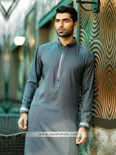#Aijaz aslam #kurta salwar for men in #cotton silk fabric. Viridian color kurta features #embroidery on collar, front and sleeves  http://www.needlehole.com/aijaz-aslam-kurta-salwar-for-men-in-cotton-silk-fabric.html Aijaz aslam kurta salwar and #menswear clothing london. Latest pakistani #shalwar kameez designs and indian #kurta shalwar for men by aijaz aslam outlets in london