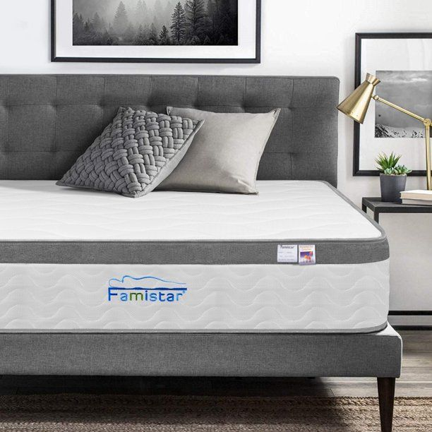 Bed For Foam Mattress Famistar 11 Inch Memory Foam Innerspring Hybrid Mattress In A Box Breathable In 2020 Comfort Mattress Bed Mattress Full Size Bed Mattress