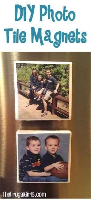 DIY Photo Tile Magnets! ~ from TheFrugalGirls.com ~ go grab the mod podge and make some super-cute magnets for your fridge or to give as gifts! #crafts #thefrugalgirls