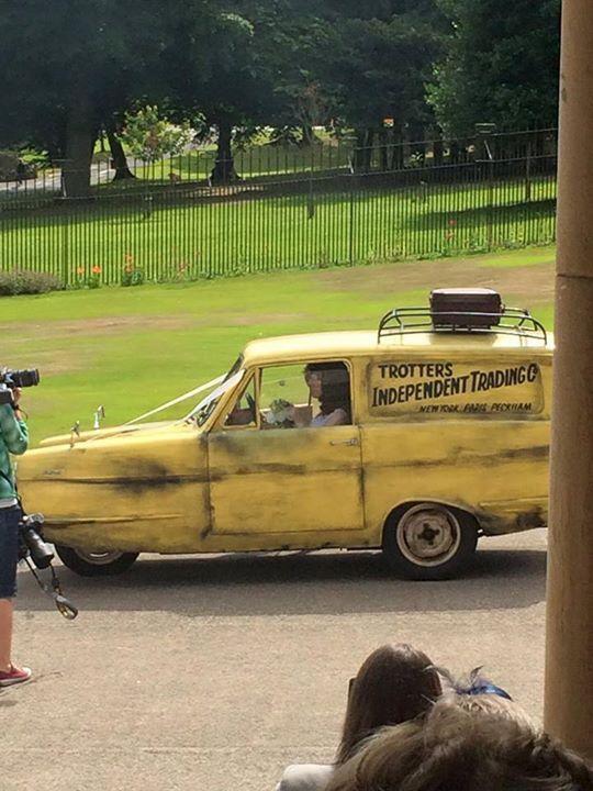Trotter van only fools and horses wedding Del Boy wedding car