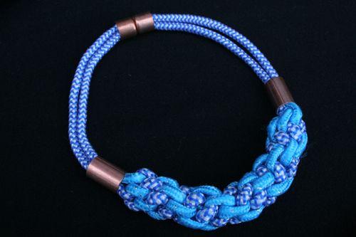 Dollar Store Crafts  Fashion-Inspired Rope Necklace: Dollar Stores Crafts, Ropes Necklaces, Diy Jewelry, Crafts Tutorials, Fall Fashion, Crafts Blog, September Crafts, Jewelry Diy, Fashioninspir Ropes