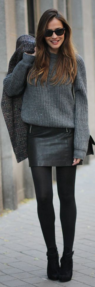 Gray  Knitted  Jumper                                                                             Source