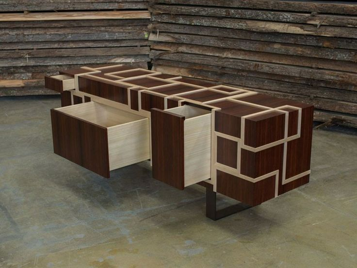 Wooden sideboard with drawers KUBINA - Atelier MO.BA.