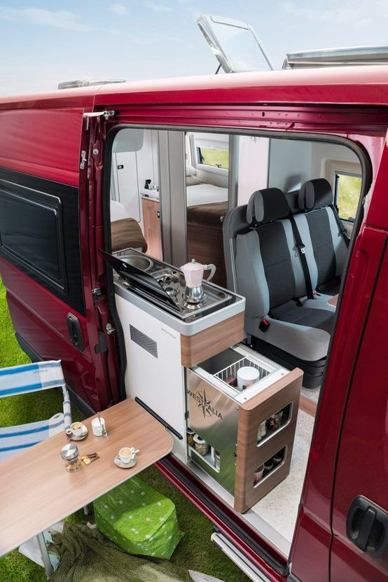 Sweet custom Vanagon-want to upgrade our van for road trips, love this!