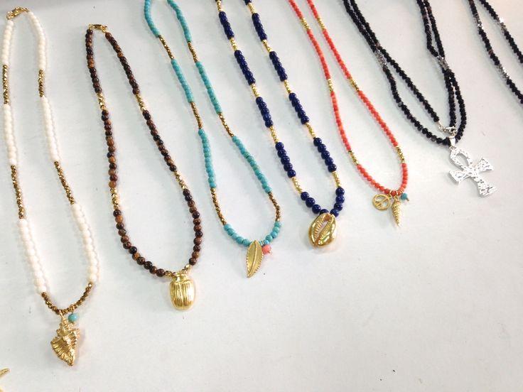 FIOS COM PEDRAS!!! (Perolas, agatas, turquezas, pirites, lapiz azuli e prata/prata com banho de ouro) +info: joias.she@gmail.com