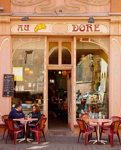 Au Dore Café, Colmar, Alsace, France