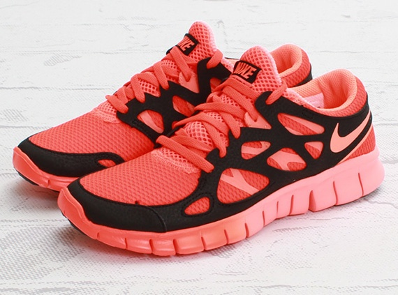 Womens Nike Free Run 2 Ext Total Crimson Mango Black Nike Free For Sale Designer