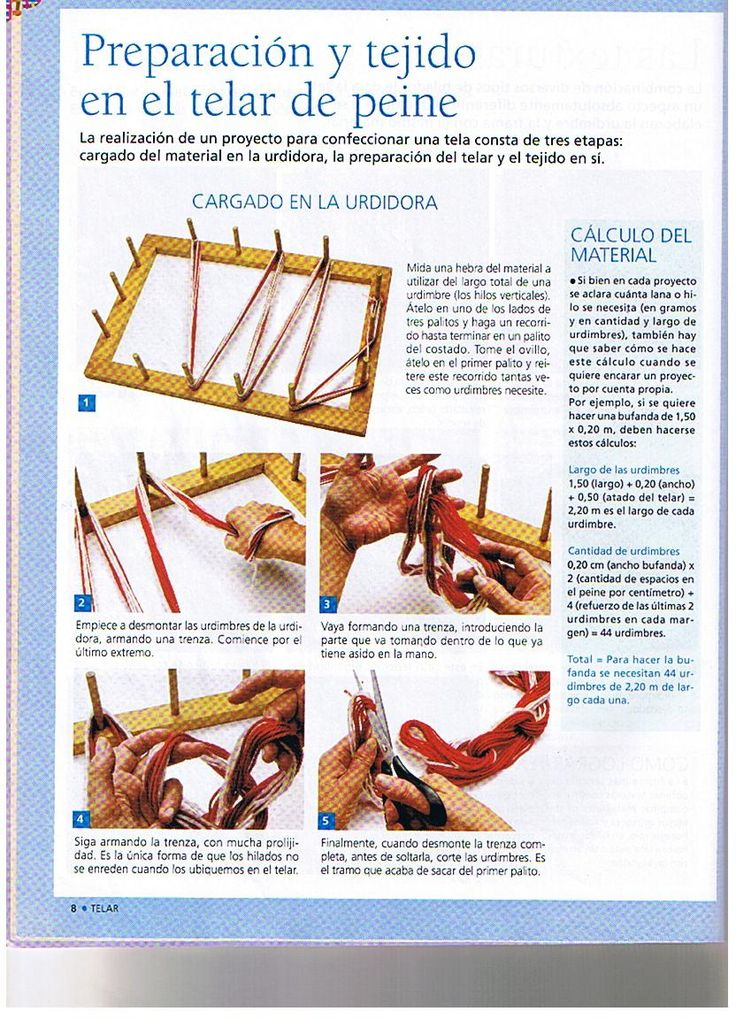Recuerda ticlear sobre las fotos para ver mejor!!!  Como se teje: preparación  del tejido,uso del URDIDOR,cálculo de material  Enhebrado del...