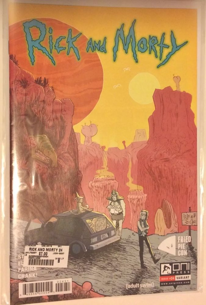 Rick And Morty #24 Fried Pie Exclusive Variant Cover (Oni Press Comics 2017) NM