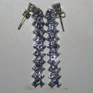 Anting Permata Tanzanite Silver 925