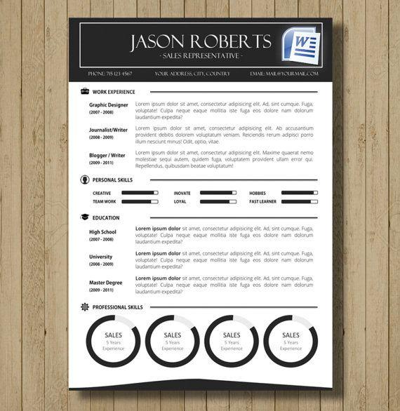 35 besten CV / Resume Templates in MS Word Bilder auf Pinterest ...