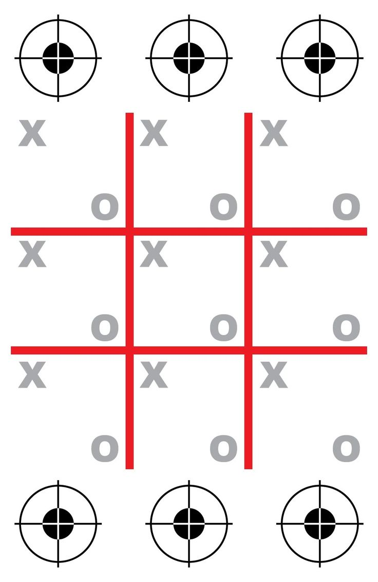 Tic-Tac-Toe Shooting Target at PhotosAndFun.com