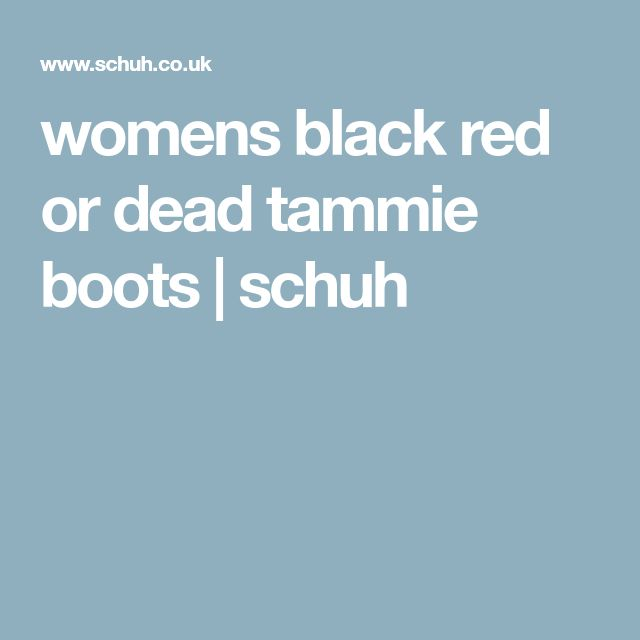womens black red or dead tammie boots | schuh