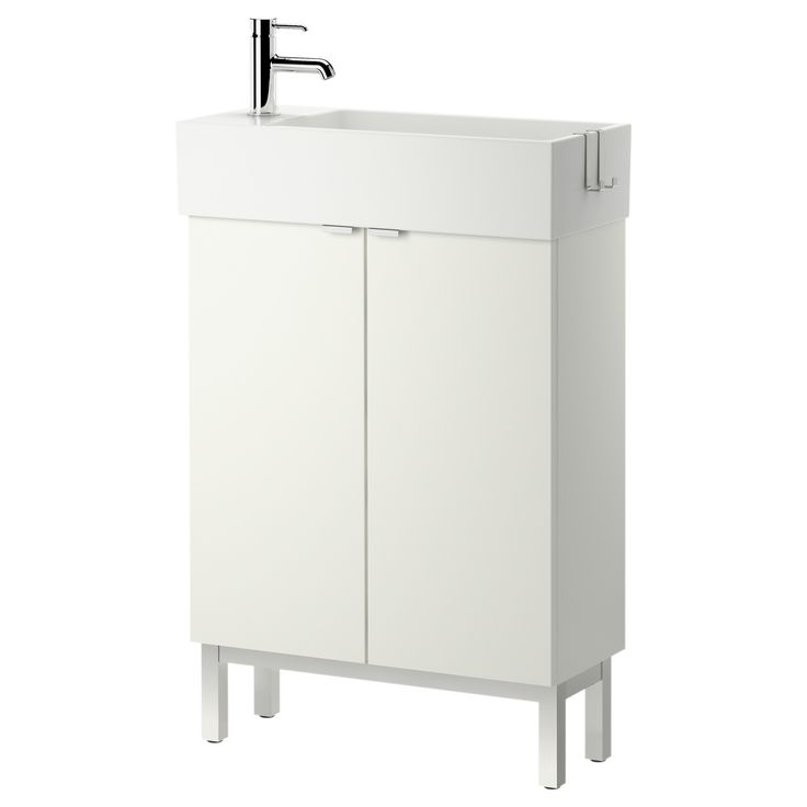"""IKEA - LILLÅNGEN, Sink cabinet with 2 doors, white, 23 5/8x10 5/8x36 5/8 """", , Can be used as a shelf for a soap dish and tumbler, thanks to the depth of the frame.Perfect in a small bathroom since the sink cabinet is shallow."""