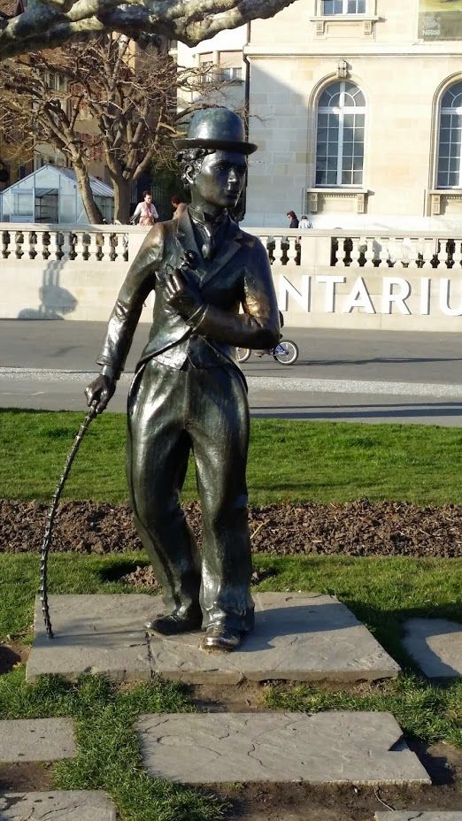 Charlie Chaplin Statue in Vevey - Switzerland. Visit the Swiss with #SwissPrestigeLimousine