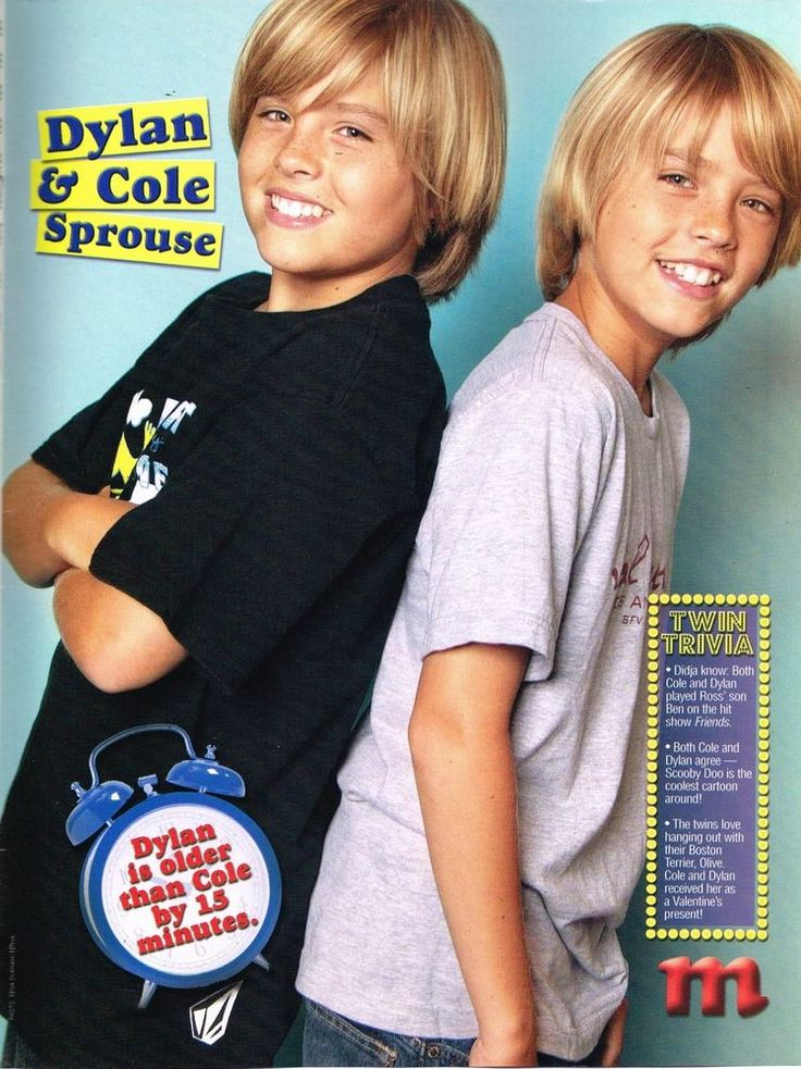 "DYLAN & COLE SPROUSE - 11"" x 8"" MAGAZINE PINUP - POSTER - TEEN BOY ACTOR"