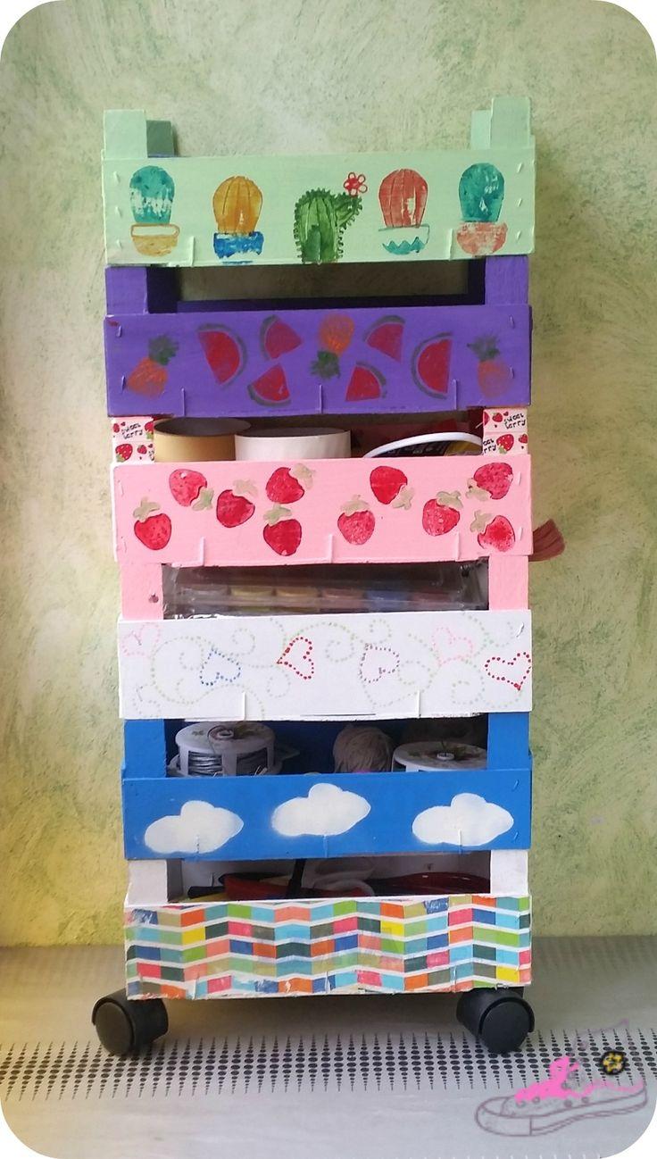 Haz tu propio Carrito RÅSKOG de Ikea con Cajas de Fresas