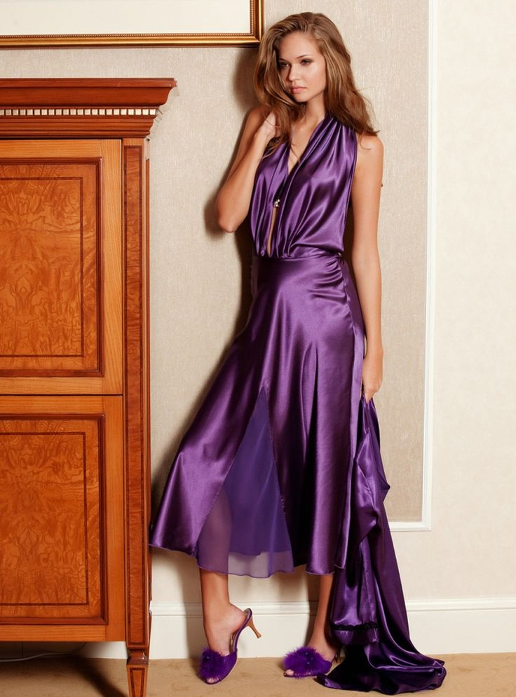 11 best Saten images on Pinterest | Nightwear, Purple lingerie and ...