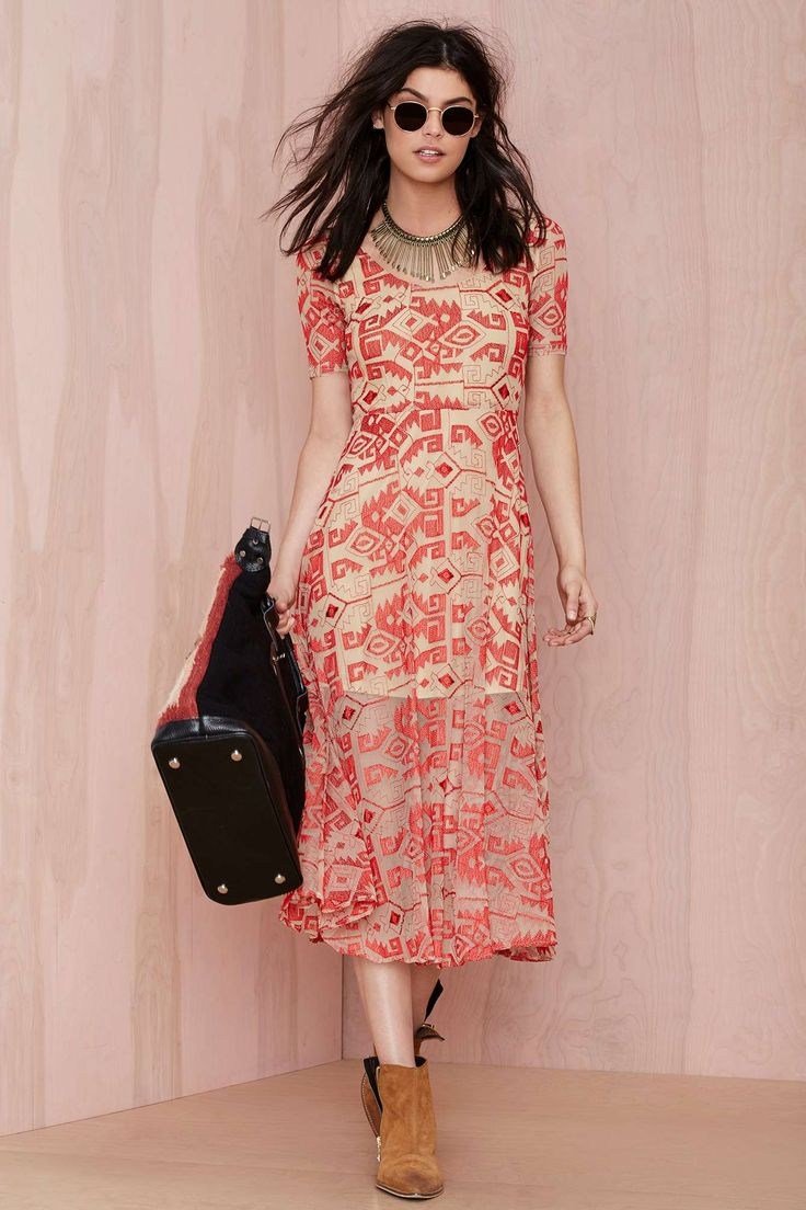 Line and Dot Other World Embroidered Dress