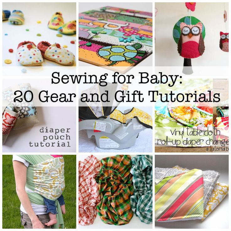 sewing for the baby tutorials