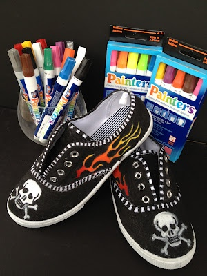 *Rook No. 17: recipes, crafts & creative nesting*: How to Customize your Kicks & Trick Out Your Sneakers with Elmer's Painters