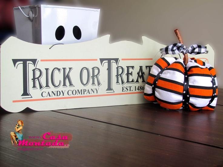 Casa Montada: Fabric Pumpkin DIY - Abóbora de Tecido s/ Costura!