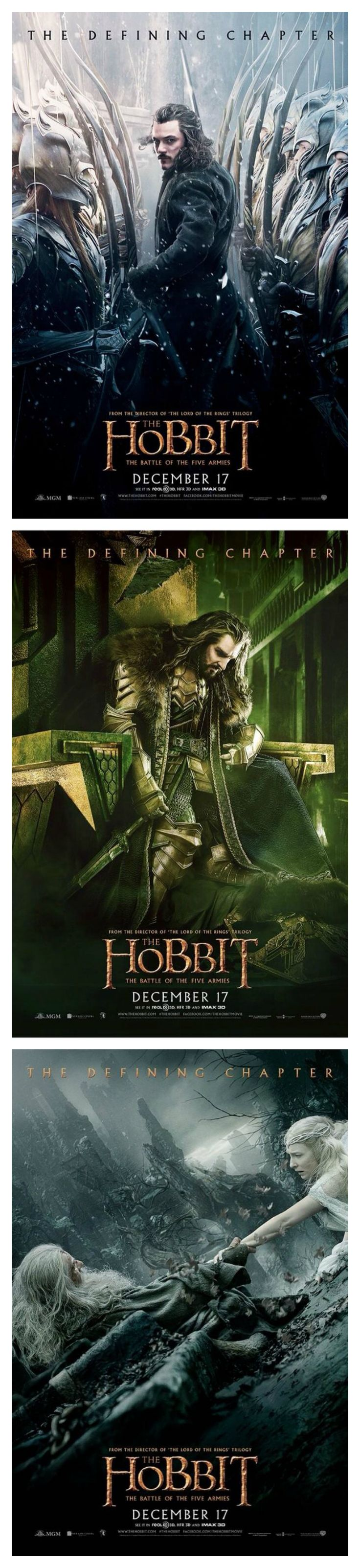 The Hobbit: The Battle of the Five Armies. On top of everything that's going to happen, I'm going to cry like I did with ROTK simply because it's over