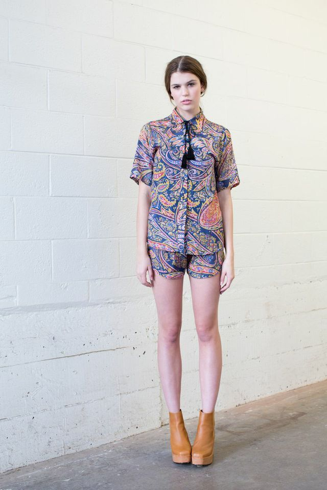 Brooke Tyson Tonto shirt and shorts