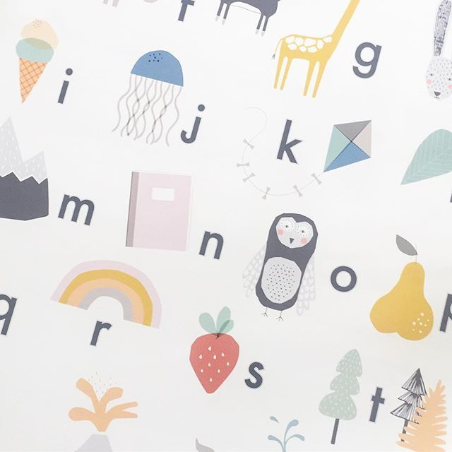 A close up of our Alphabet Poster! Which character is your favourite? #abc #educational #lovemaestudio