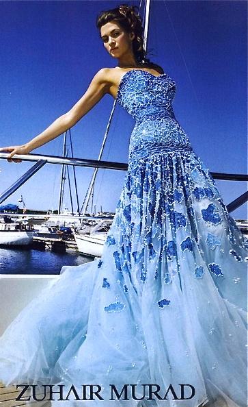 Blue dress zuhair murad himself