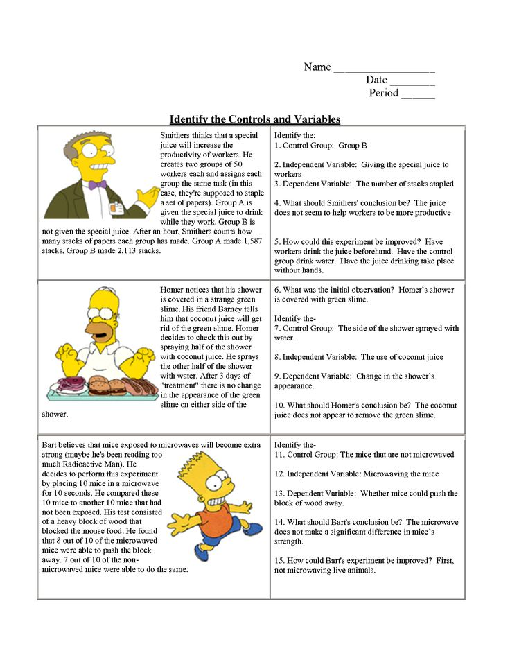 Variables Worksheets For Middle School Science Fun : Ideas about scientific method on pinterest science