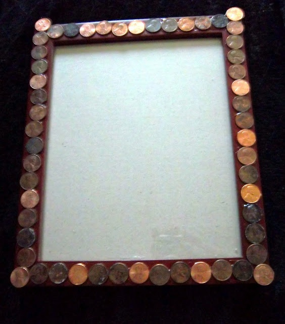 CRAFTS AND CREATIONS WITH KMOM14: Lincoln Penny Picture Frame