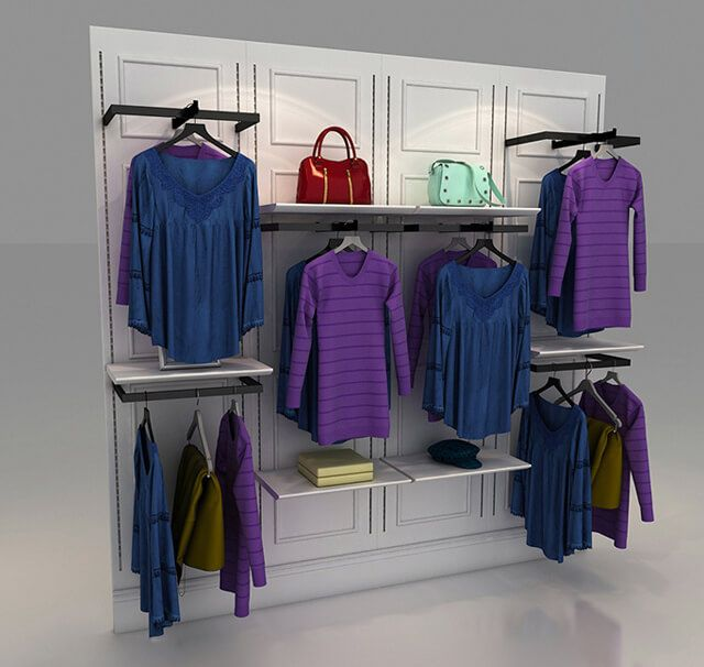 Slatwall Clothing Display Clothing Store Displays Clothing Store Design Clothing Rack Display