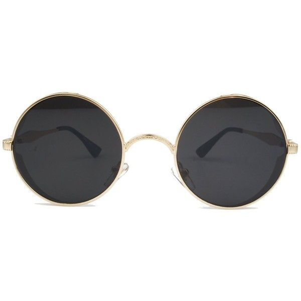 Vintage Hippie Retro Metal Round Circle Frame Sunglasses ($13) ❤ liked on Polyvore featuring accessories, eyewear, sunglasses, metal-frame sunglasses, round metal sunglasses, hippie sunglasses, circular sunglasses and circle glasses
