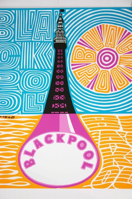 Blackpool travel poster