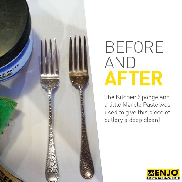 Use the ENJO Sponge and a touch of Marble Paste to give your silverware a shiny new look!